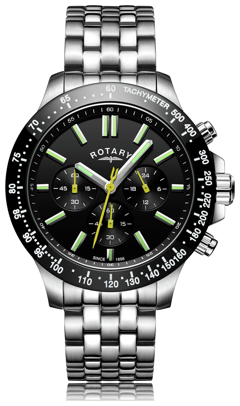 Rotary Men's Silver Stainless Steel Watch