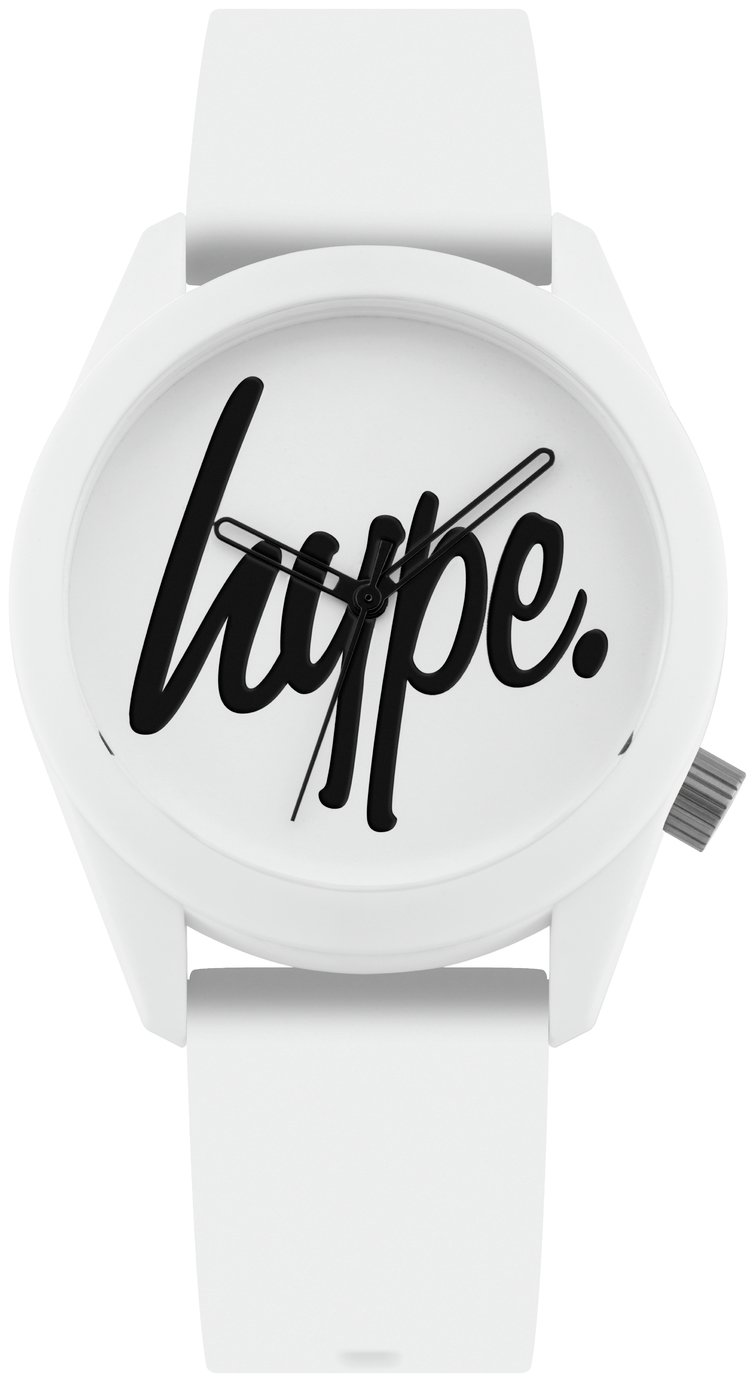 Hype White Dial Silicone Strap Watch