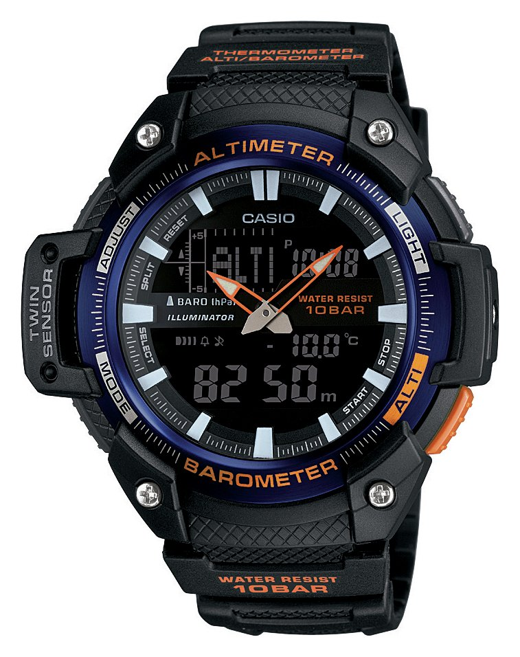 Casio Black Dial Twin Sensor Watch