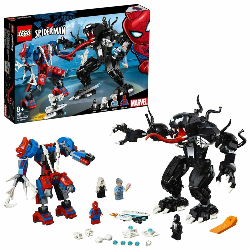 LEGO Superhero Spider-Man Spider Mech Fight Playset - 76115
