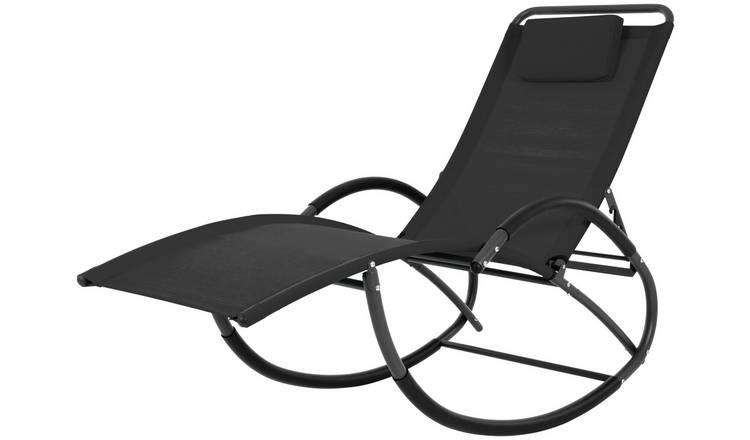 sports shoes 58064 9f75a Buy Vivere Wave Laze Chair - Black | Garden chairs and sun loungers | Argos