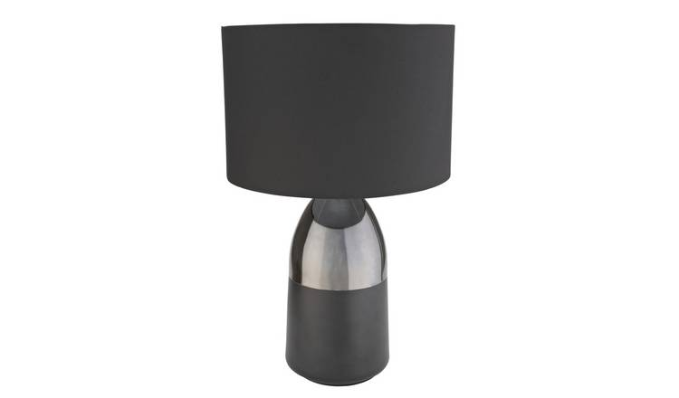 Argos Home Pluto Touch Table Lamp - Pewter & Black