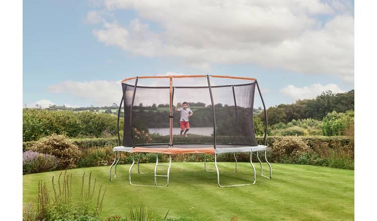 Sportspower 14ft Outdoor Kids Trampoline with Enclosure from Argos' garden toy range