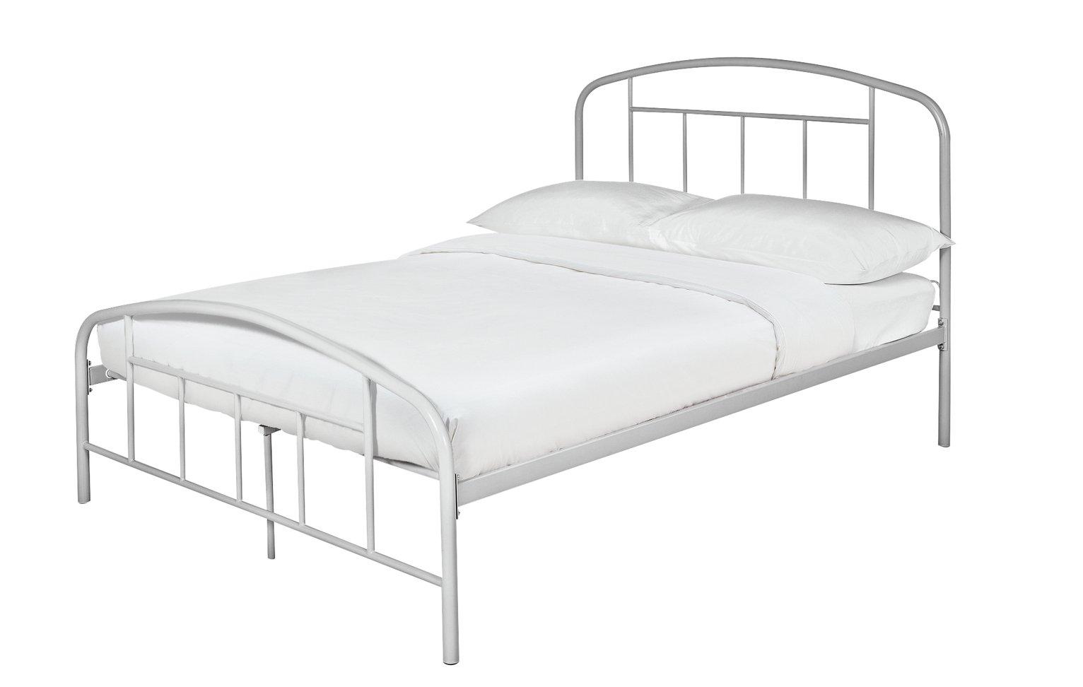 Argos Home Pippa Double Bed Frame - Grey