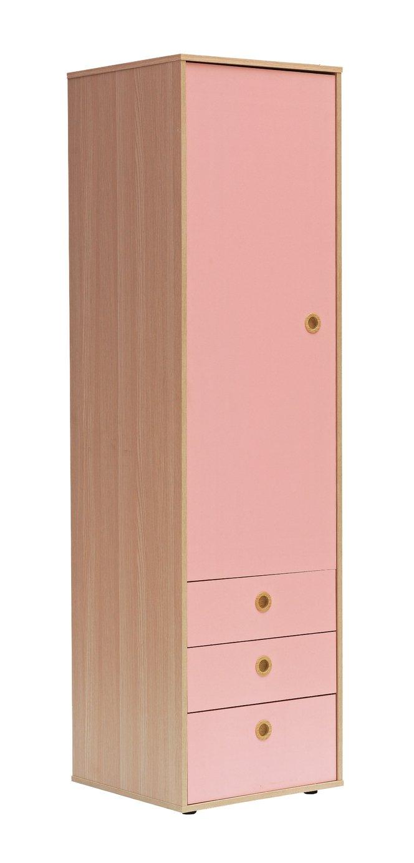 Argos Home Camden 1 Door 3 Drawer Wardrobe - Pink & Acacia