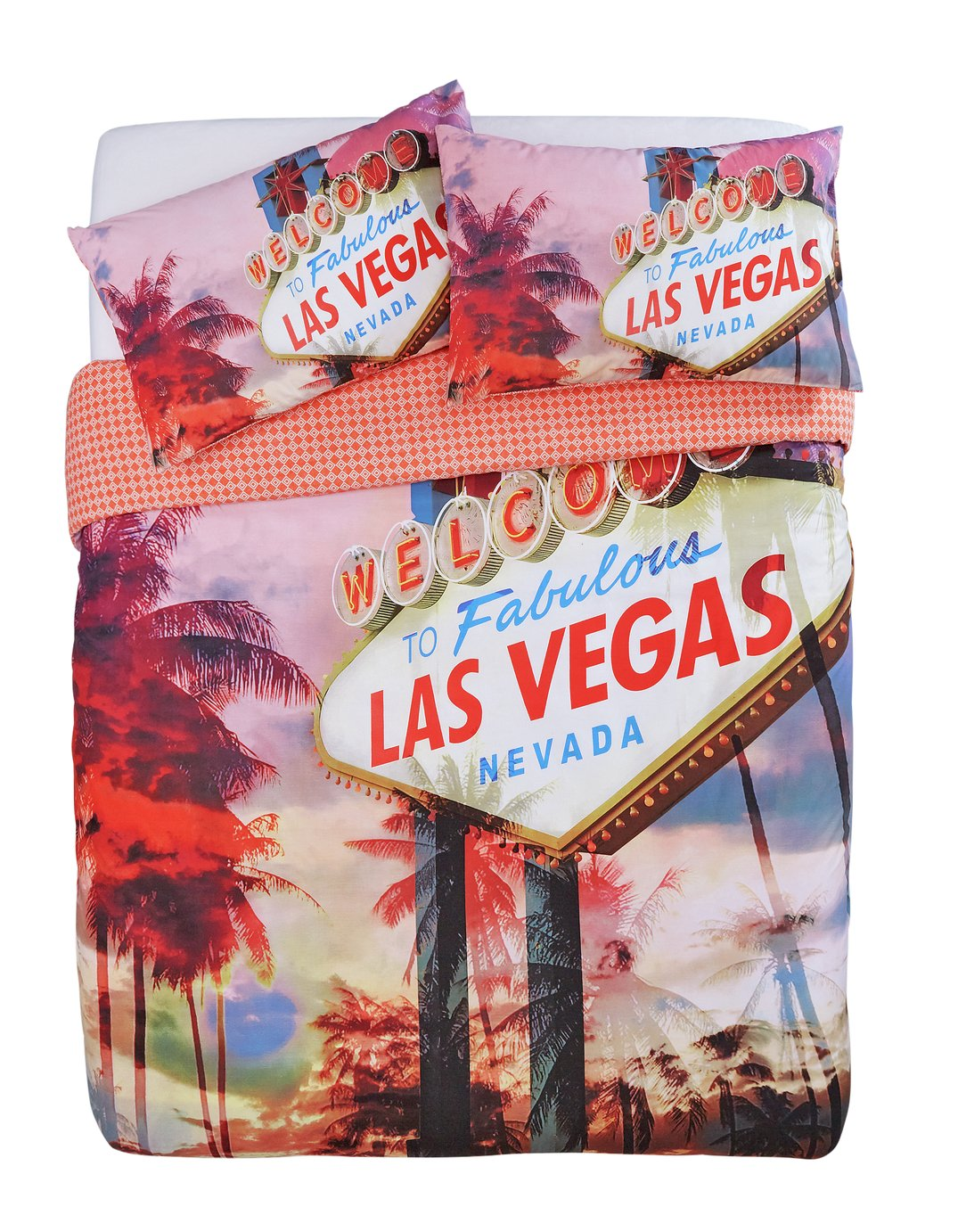 Argos Home Las Vegas Colour Bedding Set - Double