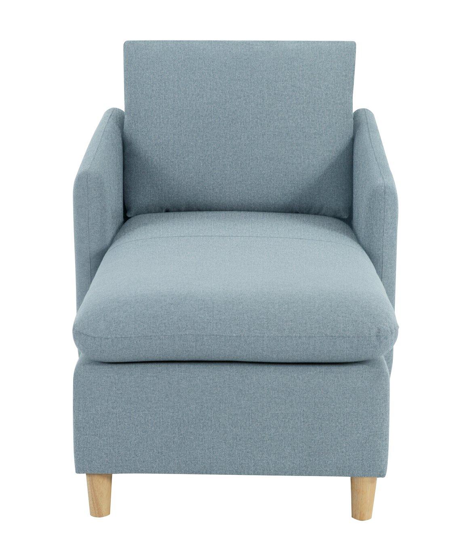 Habitat Mod Fabric Chaise Sofa with Arms - Blue