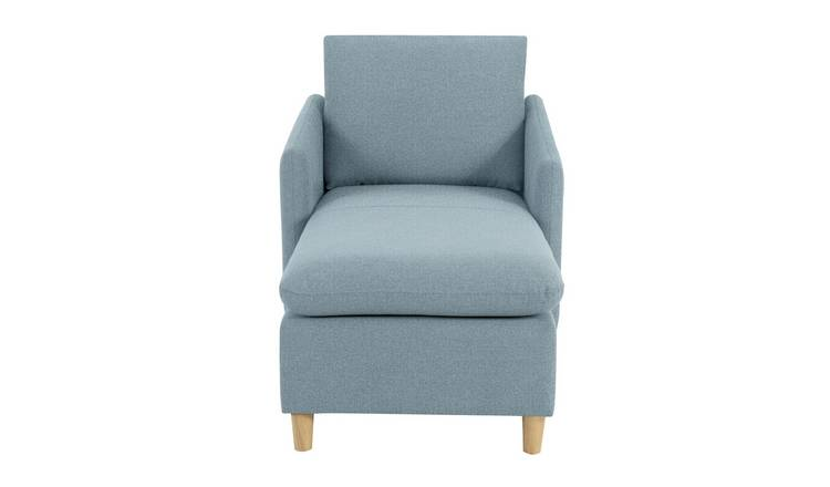 Habitat Mod Fabric Chaise Sofa with Arms - Blue