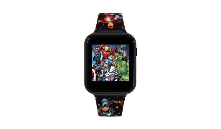Disney Avenger Kids Multicolored Silicone Strap Smart Watch