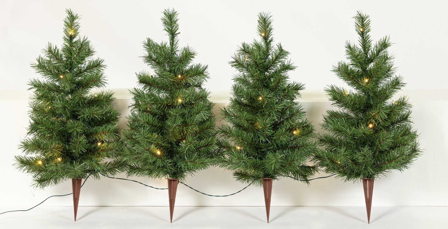 Argos Home Set of 4 Christmas Tree Path Finders