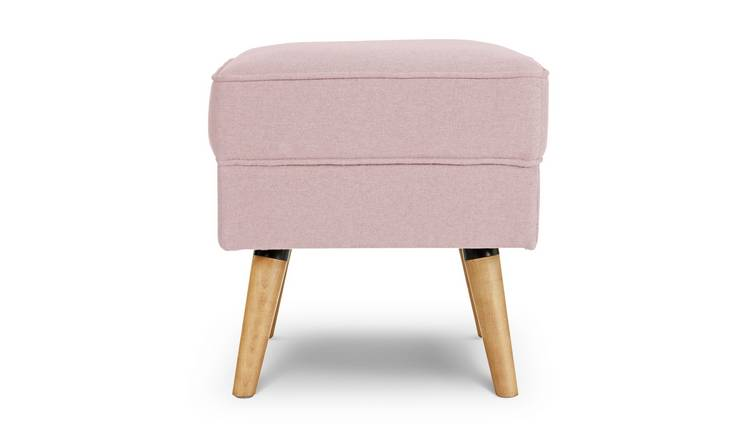 Argos Home Callie Fabric Footstool - Blush Pink