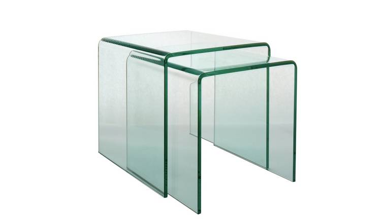 Habitat Gala Set of 2 Glass Nested Tables