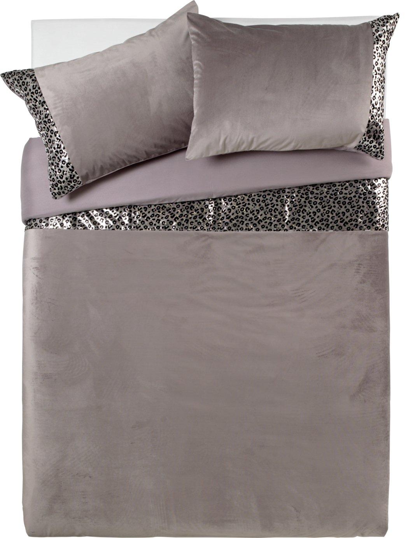 Argos Home Sequin Leopard Print Bedding Set - Double