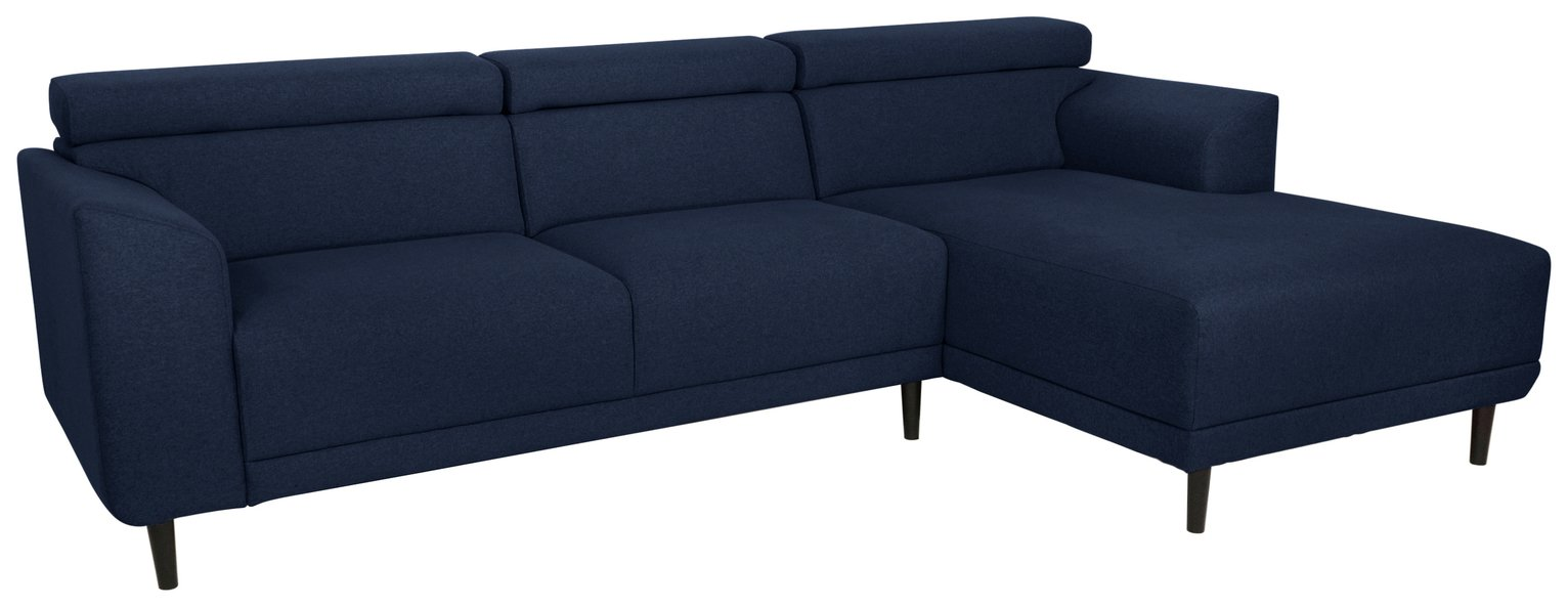 Argos Home Jonas Right Corner Fabric Sofa - Navy