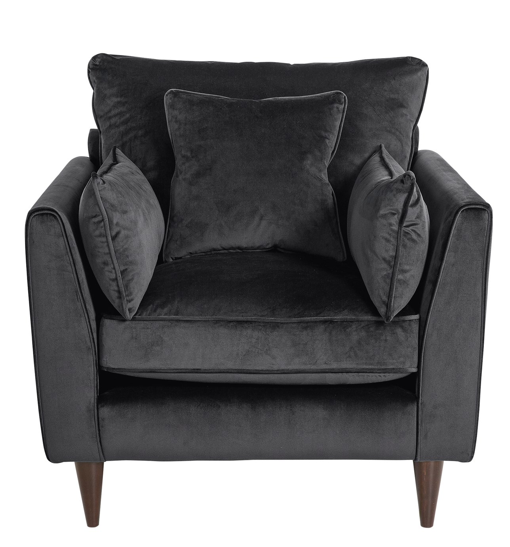 Argos Home Hector Velvet Armchair - Grey