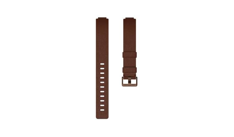 Fitbit Inspire Small / Medium Leather Accessory Band -Cognac