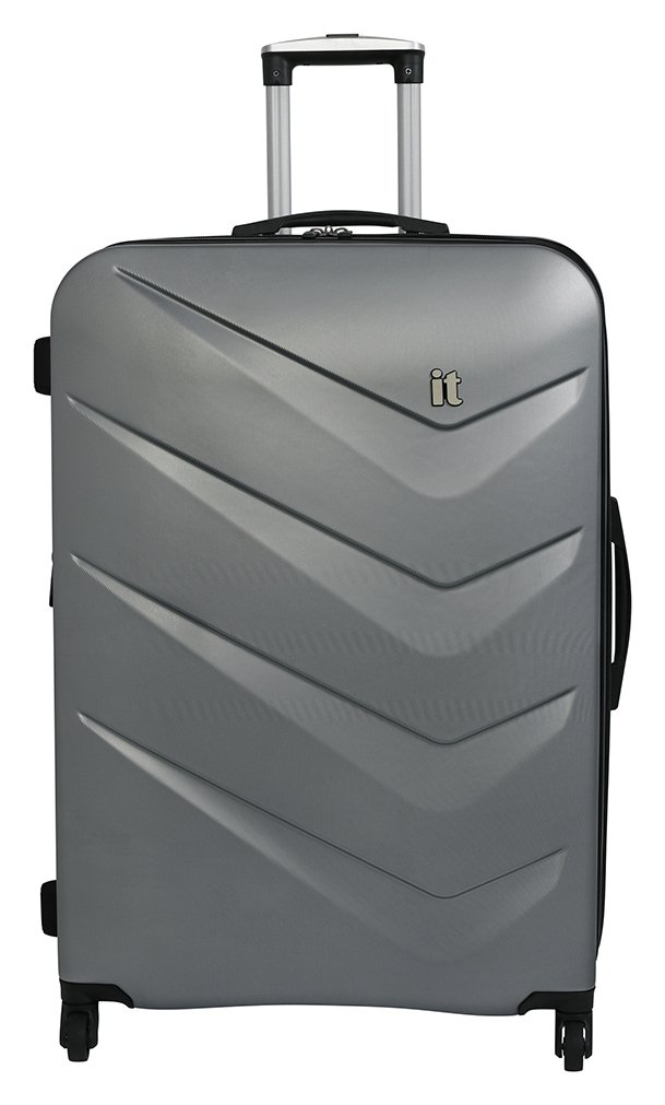 it Luggage Large Expandable 4 Wheel Hard Suitcase - Silver