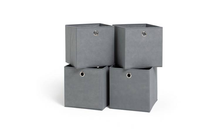 Habitat Set of 4 Squares Boxes - Grey