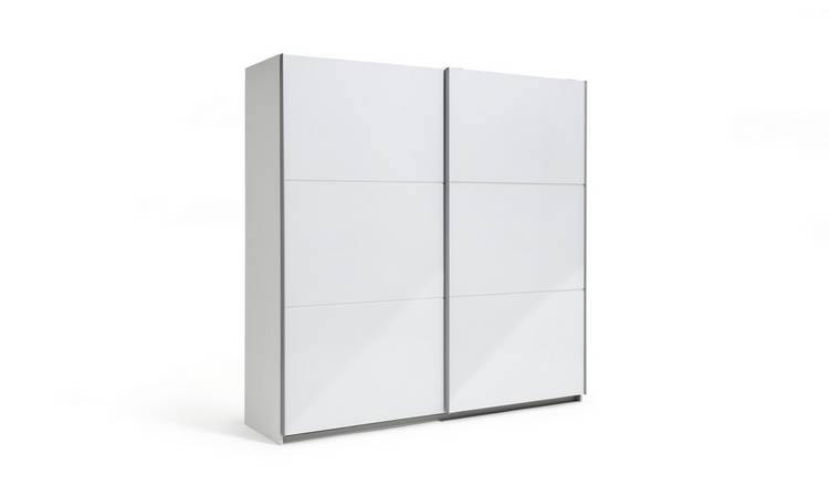 Habitat Holsted White Gloss Extra Large Sliding Wardrobe