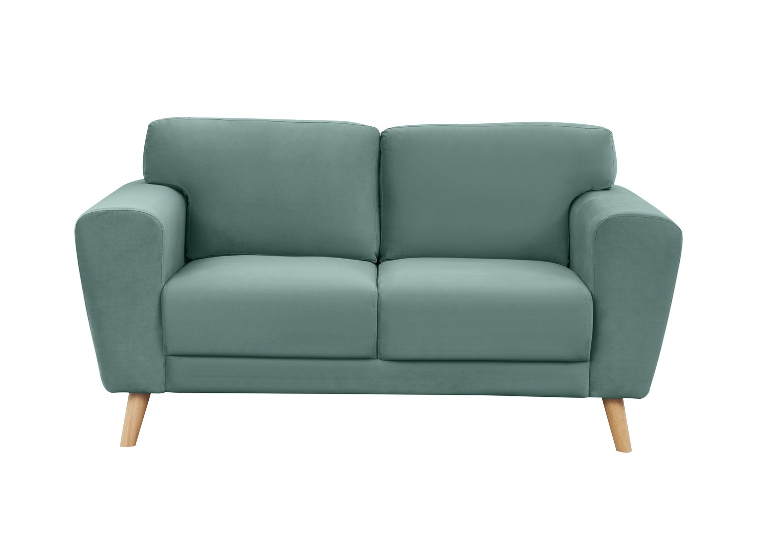 Habitat Snuggle 2 Seater Velvet Sofa - Teal