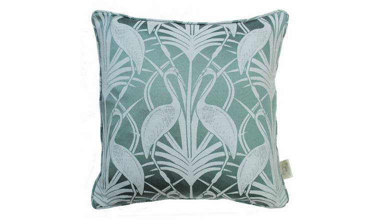 The Chateau By Angel Strawbridge Heron Cushion - Teal