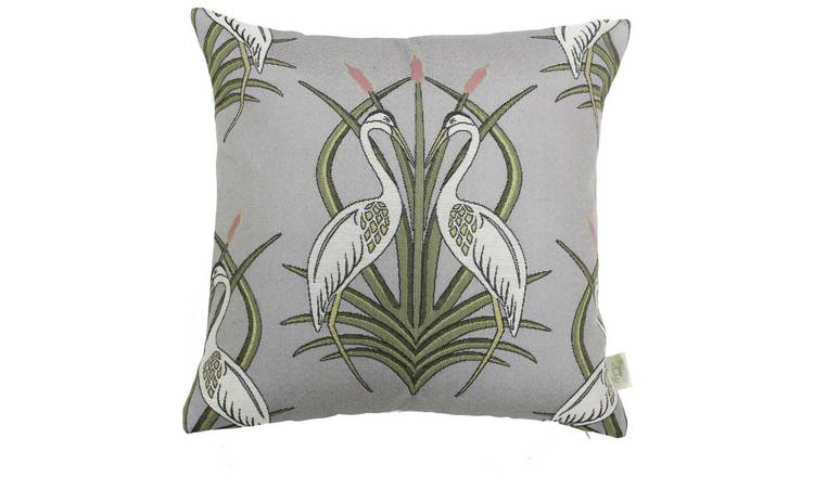 The Chateau By Angel Strawbridge Moat Heron Cushion - Grey