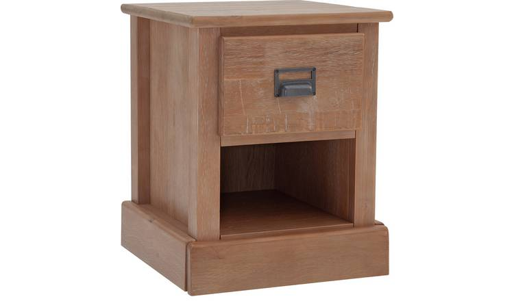 Argos Home Drury 1 Drawer Bedside Table - Light Pine