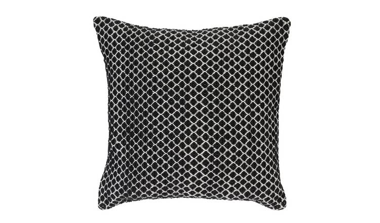 Argos Home Global Diamond Cushion - Black