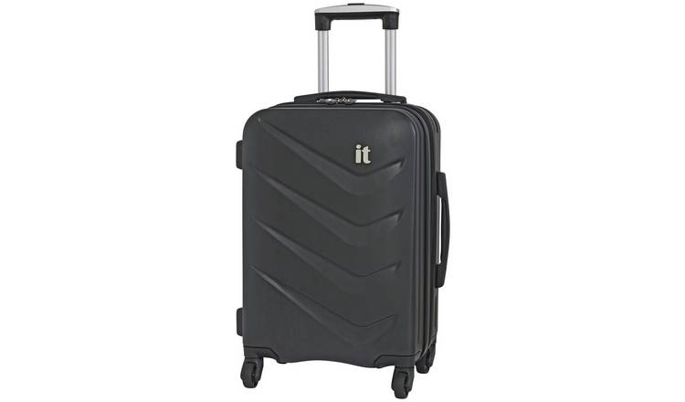 it Luggage Expandable 4 Wheel Hard Cabin Suitcase - Black