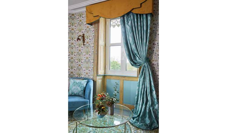 The Chateau by Angel Strawbridge Heron Curtains - Teal