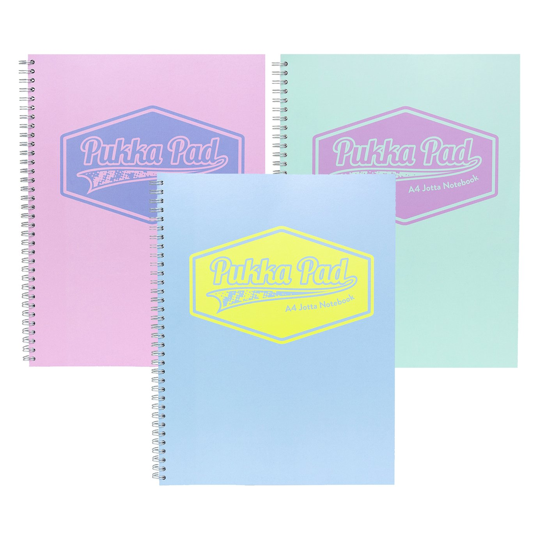 Pukka Pads Pastel A4 Jotta Notebook - 3 Pack