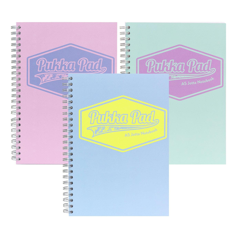 Pukka Pads A5 Pastel Jotta Notebook - 3 Pack