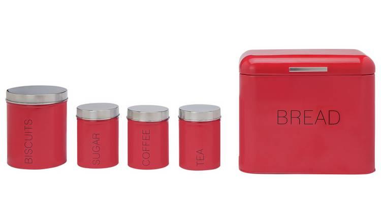 Buy Argos Home 5 Piece Kitchen Storage Set Poppy Red Storage Jars And Sets Argos