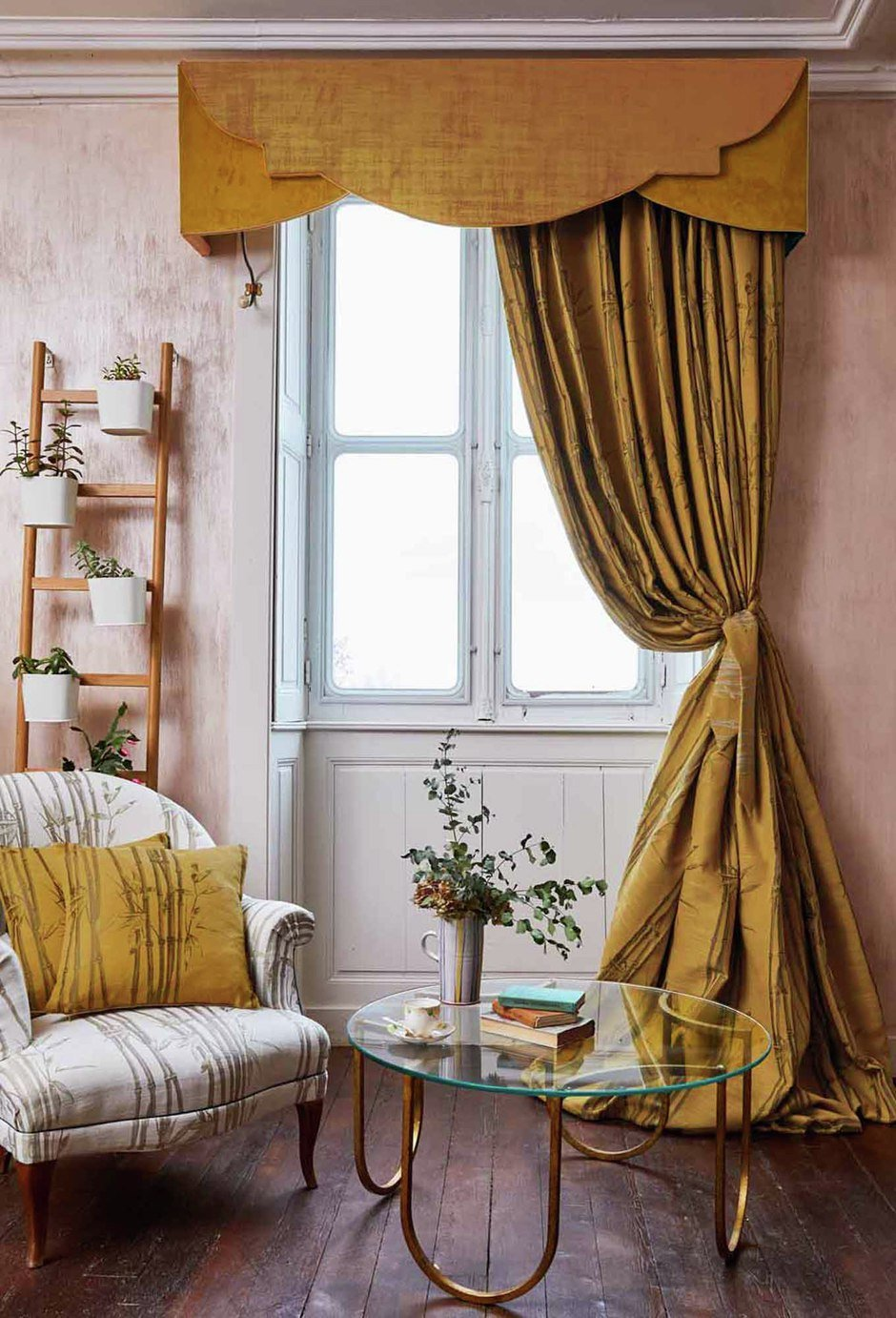 The Chateau by Angel Strawbridge Bamboo Curtains - Ochre