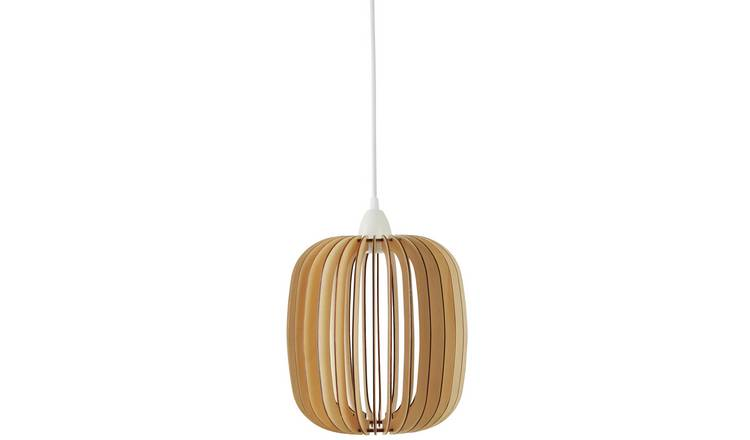 Habitat Achille Small Plywood Pendant Light - Natural