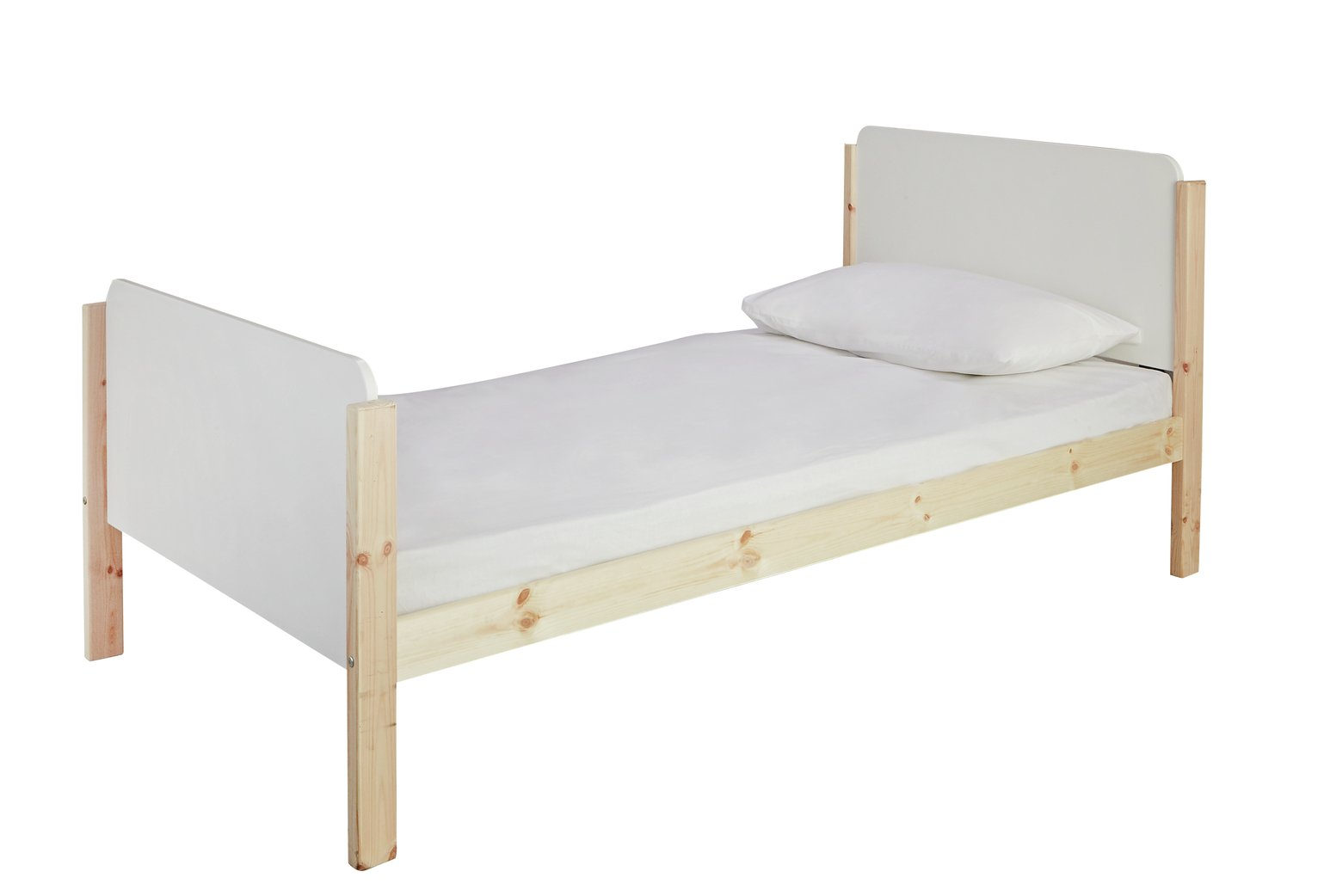 Argos Home Arlo White & Pine Single Bed