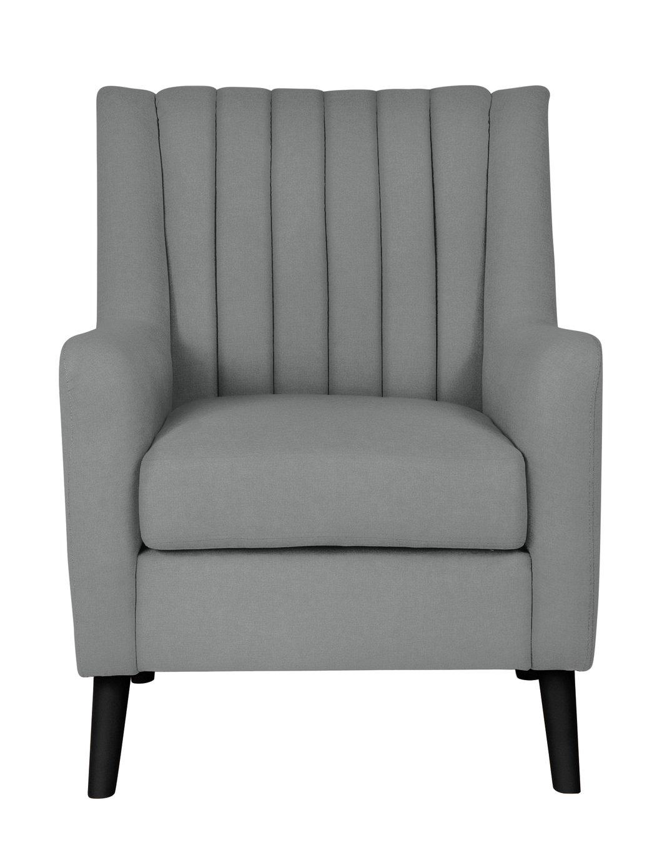 Argos Home Heidi Mid Century Velvet Armchair - Charcoal Grey