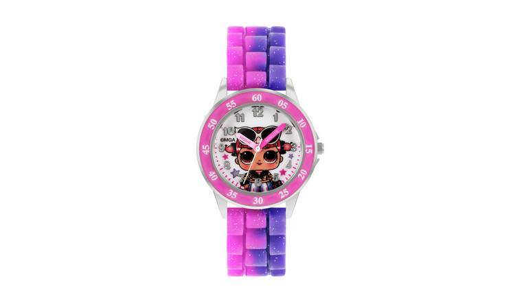 LOL Surprise Kids Pink and Purple Silicone Strap Watch