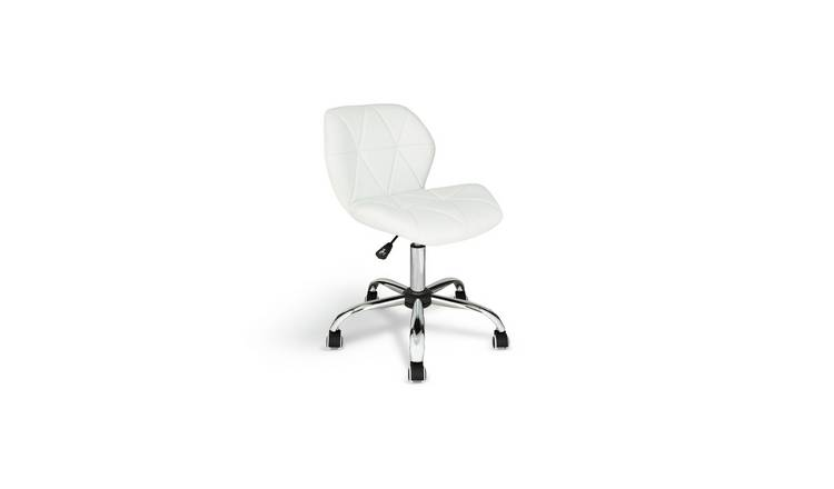 Argos Home Boutique Faux Leather Office Chair - White