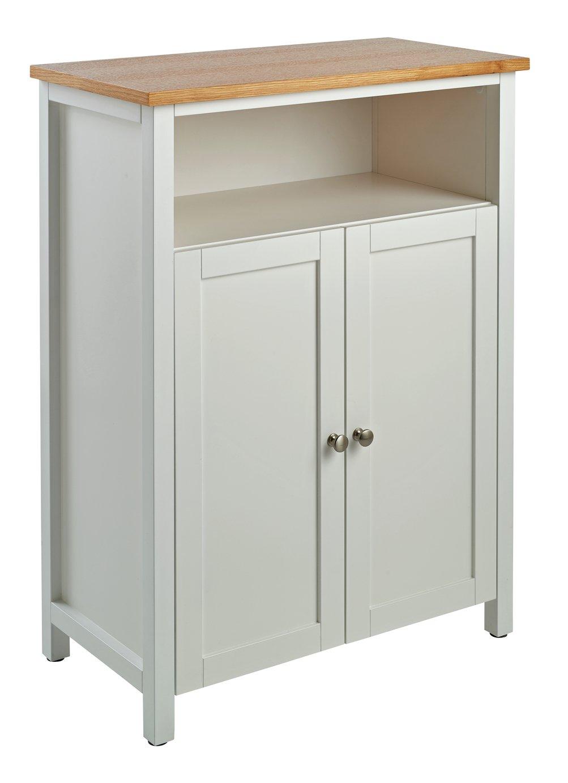 Argos Home Livingston 2 Door Floor Cabinet - White