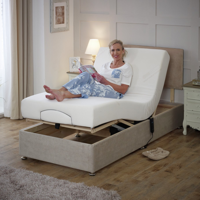 Royal Single Adjustable Bed with Pocket Memory Mattress