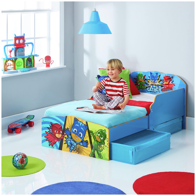 PJ Masks Toddler Bed, Drawer, Storage & Mattress