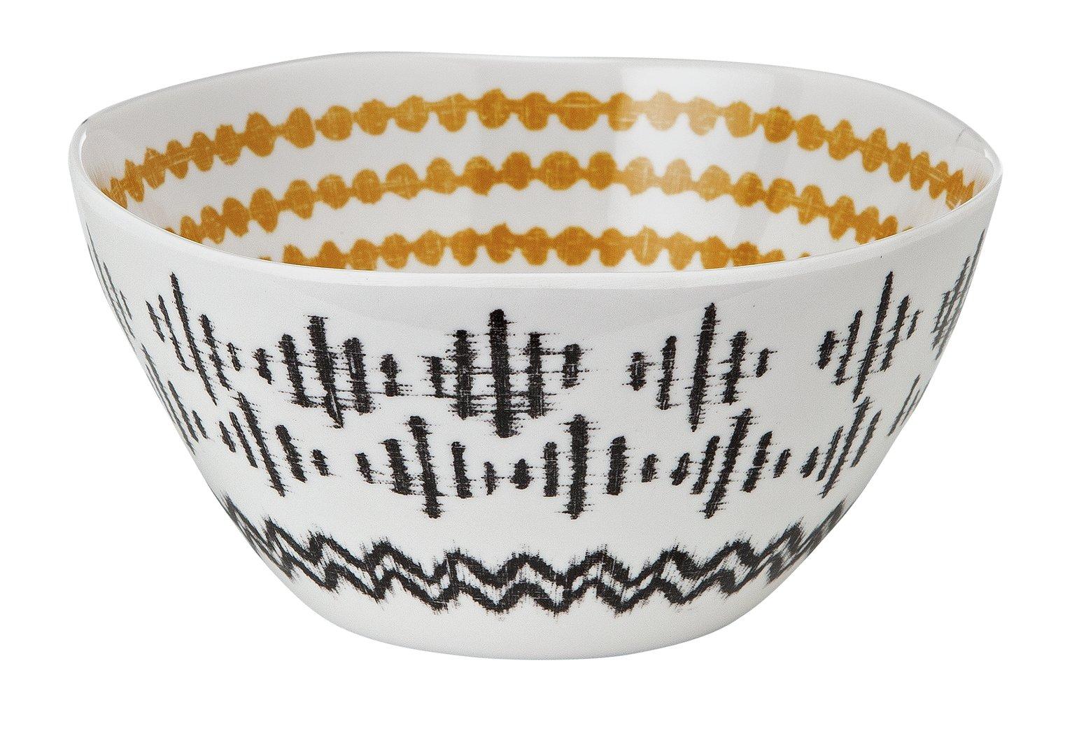 Argos Home Global Monochrome Melamine Cereal Bowls - 4 Pack