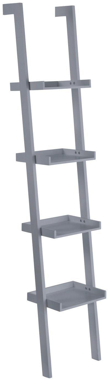 Habitat Jessie 4 Shelf Narrow Leaning Bookshelf - Grey