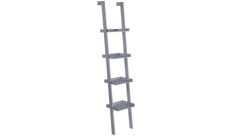 Habitat Jessie 4 Shelf Narrow Leaning Bookshelf - Grey