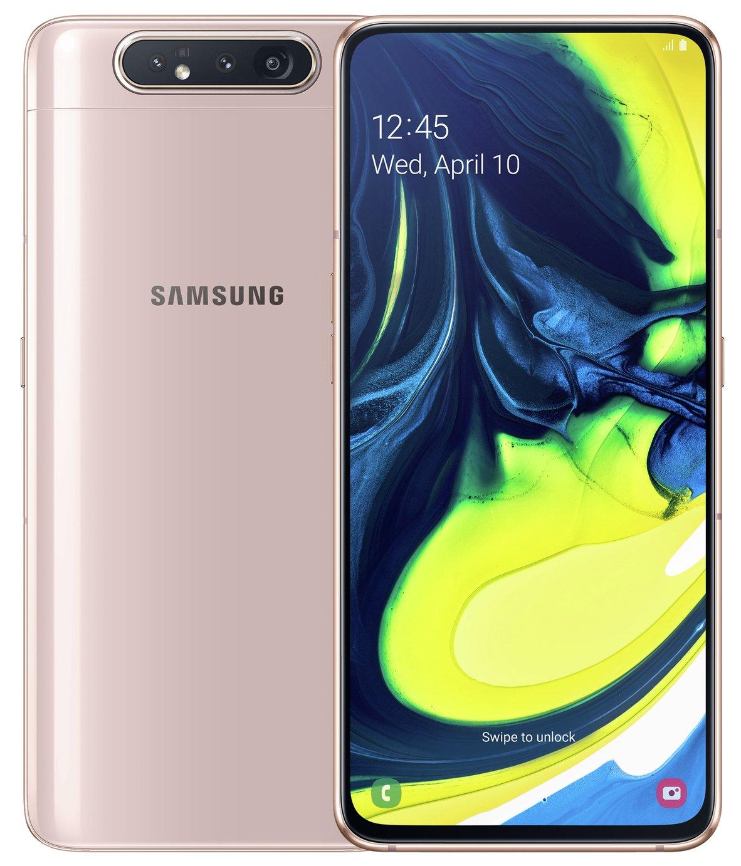 SIM Free Samsung A80 128GB Mobile Phone - Gold