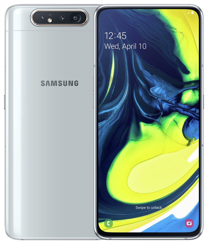 SIM Free Samsung A80 128GB Mobile Phone - Silver