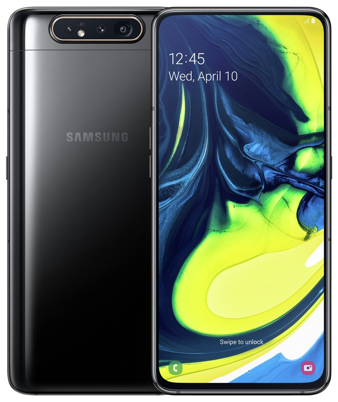 SIM Free Samsung A80 128GB Mobile Phone – Black