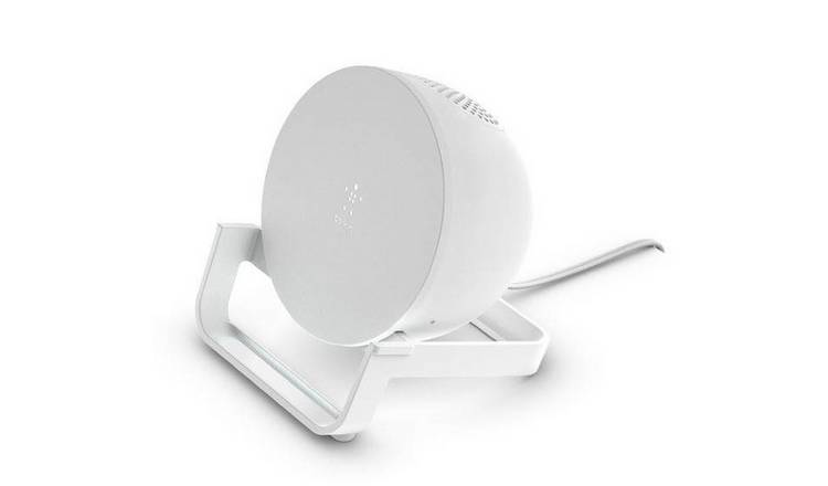 Belkin 10W Wireless Charger Stand & Speaker Incl. Plug -Wht