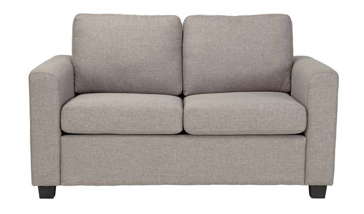 Argos Home Apartment 2 Seater Fabric Sofa Bed - Light Grey